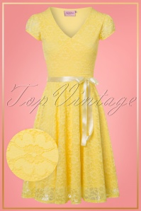 TopVintage Boutique Collection Vintage Chic Lemon Lace Swing Dress 25767 20180323 0002W1
