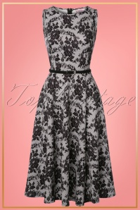 5bd04631bc1cc ... TopVintage Boutique Collection Lady V Hepburn Swing Dress Small Lace  Floral Print 25089 20180323 0002W