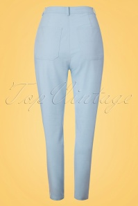 Collectif Clothing Maddie Plain Jeans in Pale Blue 22831 20171120 0008w