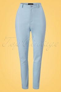 50s Maddie Trousers in Pale Blue