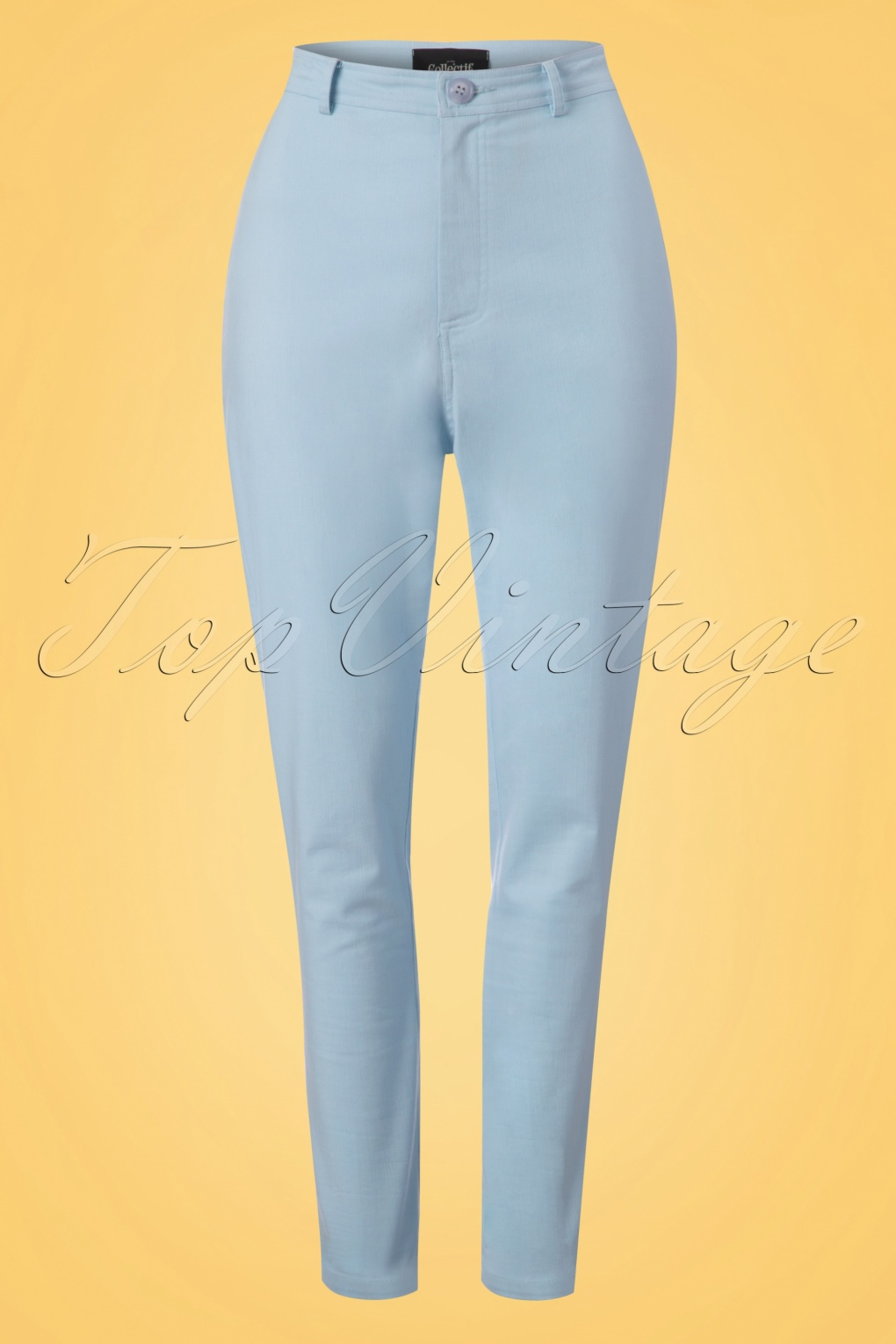 1950s Pants & Jeans- High Waist, Wide Leg, Capri, Pedal Pushers 50s Maddie Trousers in Pale Blue £39.53 AT vintagedancer.com