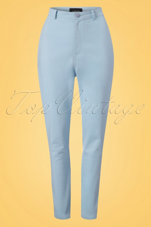 Collectif Clothing Maddie Plain Jeans in Pale Blue 22831 20171120 0002w