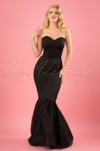 Collectif Clothing Luna Maxi Dress in Black 22552 20171120 0010w