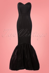 Collectif Clothing Luna Maxi Dress in Black 22552 20171120 0002w