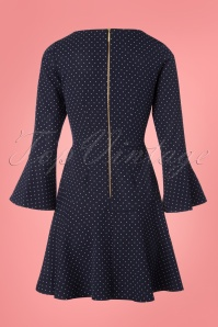 Closet London Navy Polkadot Dress 106 39 25648 20180328 0002W