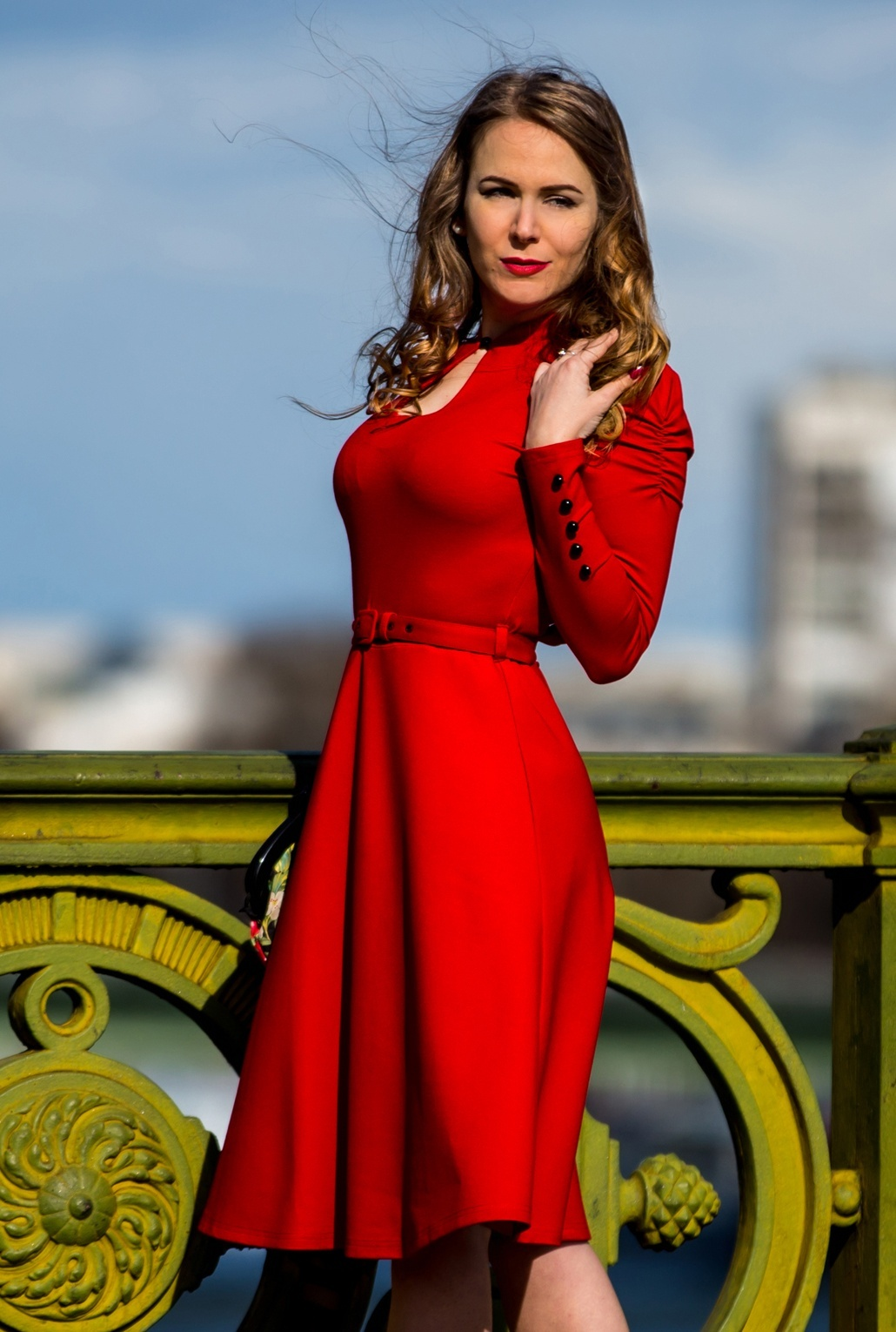 Vintage 50s Dresses: 8 Classic Retro Styles 50s Dita Swing Dress in Lipstick Red £56.49 AT vintagedancer.com