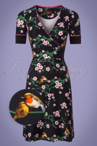 Tante Betsy Floral Black Dress 106 14 23531 20180329 0001wv