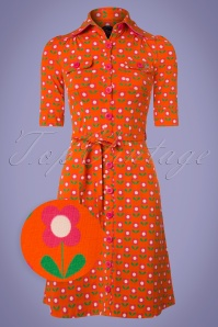 Betsy Bloms Dress Années 60 en Orange