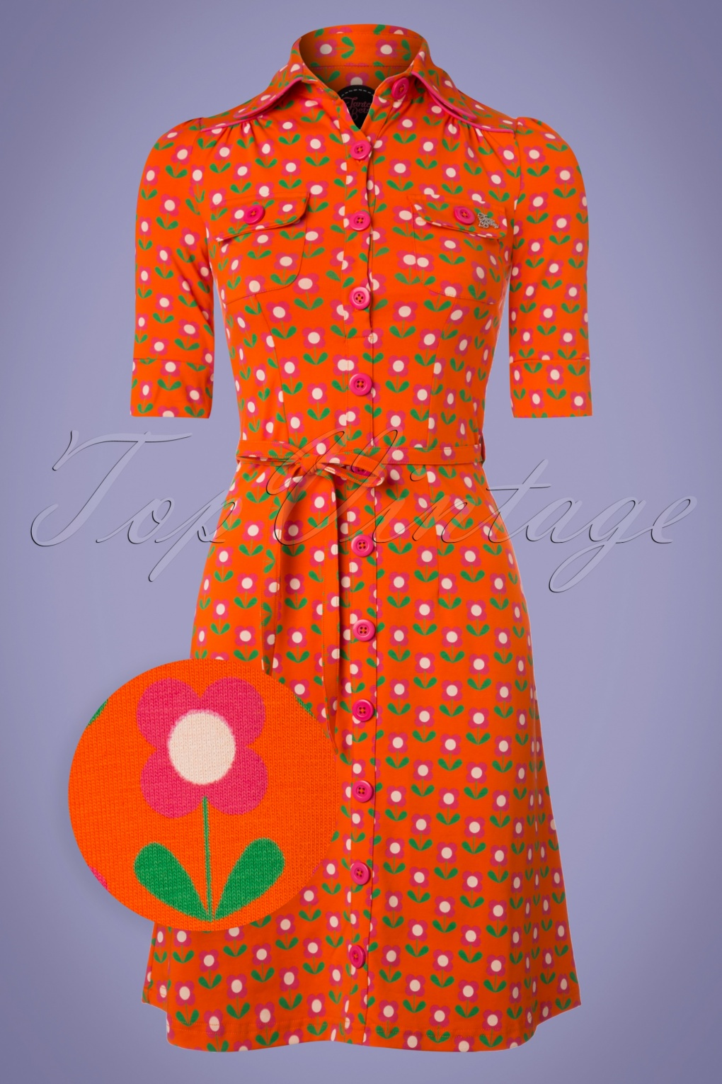 1960s Dresses – A Rainbow of 50 Dresses (Pictures) 60s Betsy Bloms Dress in Orange £78.03 AT vintagedancer.com