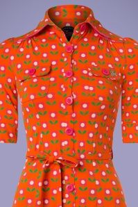 Tante Betsy 60s Orange Floral Dress 106 28 23533 20180329 0001c
