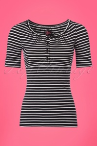 Tante Betsy Luna Breton Black and White Shirt 111 14 23528 20180329 0003w