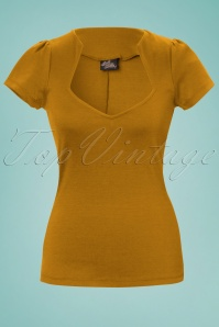 50s Sophia Top in Mustard