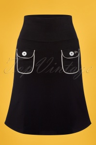 Tante Betsy Flap Pocket Black Skirt 123 10 23529 20180329 0001w