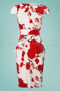Closet Tulip Tie White Red Floral Dress 100 59 25645 20180405 0002w