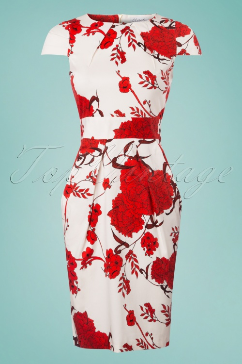 Closet Tulip Tie White Red Floral Dress 100 59 25645 20180405 0002w
