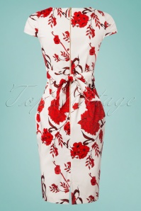 Closet Tulip Tie White Red Floral Dress 100 59 25645 20180405 0001w