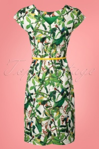 Smashed Lemon White and Green Parrot Dress 100 59 23506 20180326 0004w