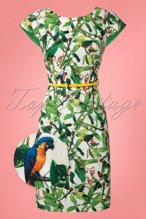 457d0a095a7 Smashed Lemon White and Green Parrot Dress 100 59 23506 20180326 0001wv