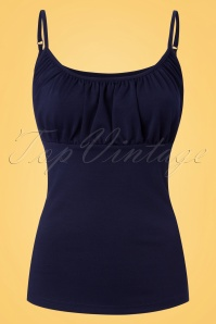 Vixen Jayne Vest Navy Spaghetti Top 110 31 23241 20180405 0001w