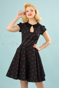 Bunny Sophie Cherries Black Swing Dress 102 14 24055 20180305 00010W
