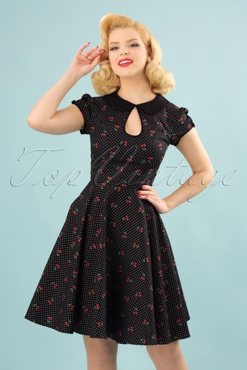 Bunny Sophie Cherries Black Swing Dress 102 14 24055 20180305 00010W