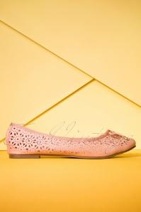 50s Dandelion Flexi Ballerina's in Blush Pink