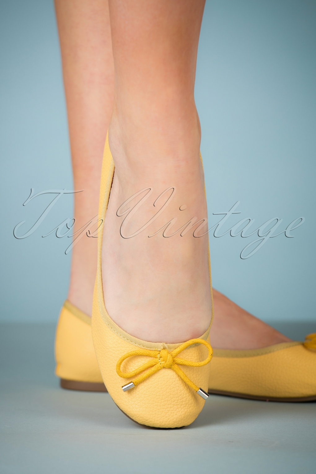 1950s Style Shoes 50s Dandelion Flexi Ballerinas in Yellow £28.10 AT vintagedancer.com