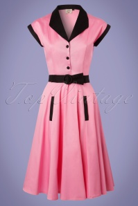 50s Jennie Swing Dress in Pink