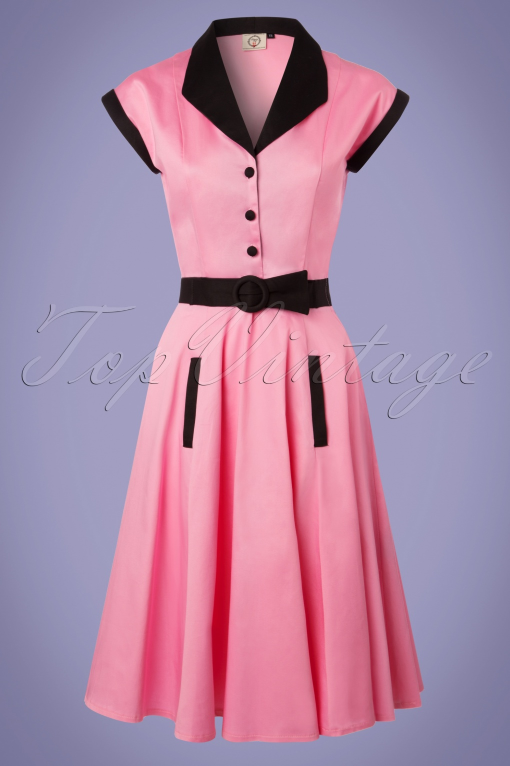 Vintage 50s Dresses: 8 Classic Retro Styles 50s Jennie Swing Dress in Pink £54.75 AT vintagedancer.com