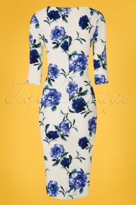 Vintage Chic Blue Floral Pencil Dress 100 59 24969 20180227 0004W
