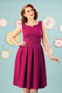 Lindy Bop Marianne Pink Swing Dress 25406 20171019 0017W