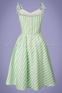Dancing Days by Banned Mint Striped Swing Dress 102 49 24301 20180328 0003W