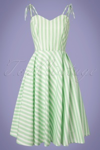 Dancing Days by Banned Mint Striped Swing Dress 102 49 24301 20180328 0001W