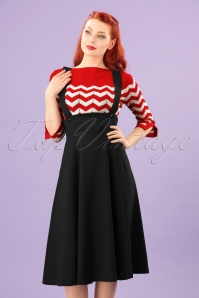 50s Jumper Swing Skirt in Black