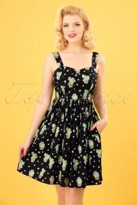 Bunny Black Polkadot Cactus Swing Dress 102 14 24057 20180315 0006W