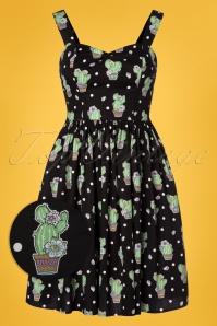 Bunny Black Polkadot Cactus Swing Dress 102 14 24057 20180315 0001W1