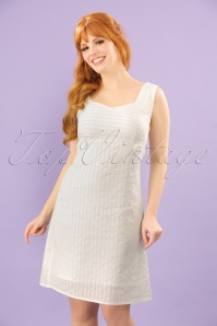 60s Make A Wish Tabs Dress in Ivory