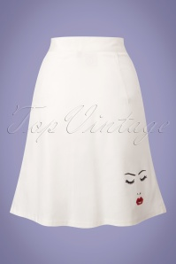 Dancing Days by Banned Model Face White Skirt 123 50 24317 20180405 0003w