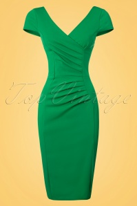 Vintage Chic Brenda Green Pencil Dress 100 40 23821 20180330 0001W