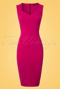 Vintage Chic 50s Magenta Veronica Pencil Dress 100 22 25448 20180330 0001W