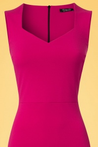 Vintage Chic 50s Magenta Veronica Pencil Dress 100 22 25448 20180330 0001V