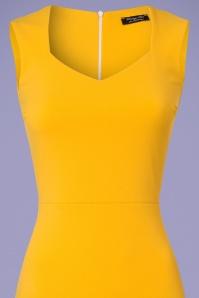 Vintage Chic 50s Veronica Honey Yellow Pencil Dress 100 80 25449 20180330 0002V