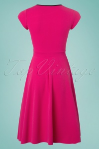 Vintage Chic 50s Rita Pink Black Dress 102 22 25147 20180330 0003W