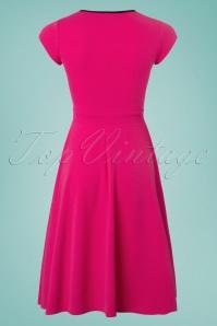 Vintage Chic 50s Rita Pink Black Dress 102 22 25147 20180330 0003W