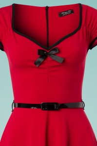 Vintage Chic Red Bow Swing Dress 102 20 24513 20180330 0001V
