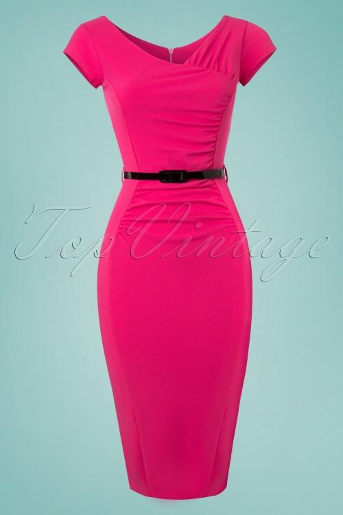 Vintage Chic Belted Pink Dress 100 22 24524 20180330 0001W