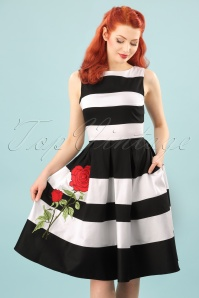Dolly and Dotty Annie Swing Dress Rose Black and White 102 14 24223 20180305 0014W