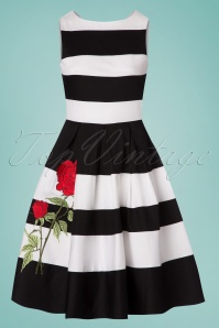 Dolly and Dotty Annie Swing Dress Rose Black and White 102 14 24223 20180305 0010W