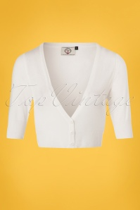 Dancing Days by Banned Bobby Basic White Cardigan 140 50 24281 20180312 0003W
