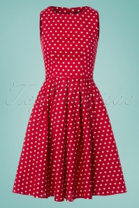 Dolly and Dotty Red and White Polkadot Swing Dress 102 27 25687 20180320 0005W